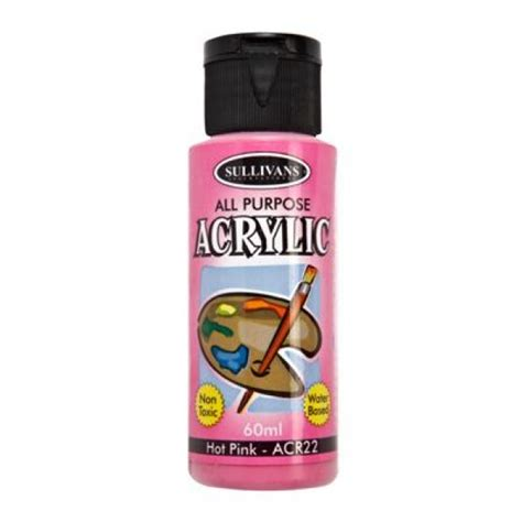 acrylic paint how to make pink sullivans all purpose acrylic paint pink 60ml
