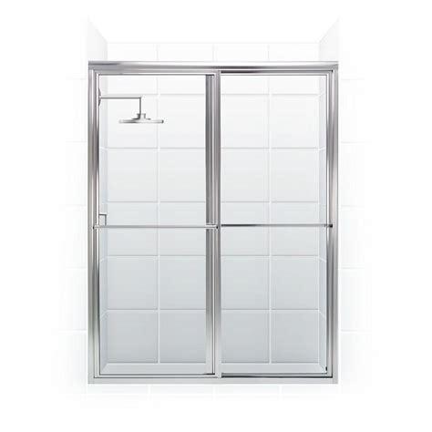 home depot shower doors sliding coastal shower doors newport series 48 in x 70 in framed