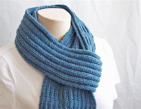how to make a knit scarf pattern knitting scarf blue mist scarf by gascon