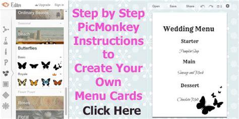 make your own menu cards free wedding menu templates