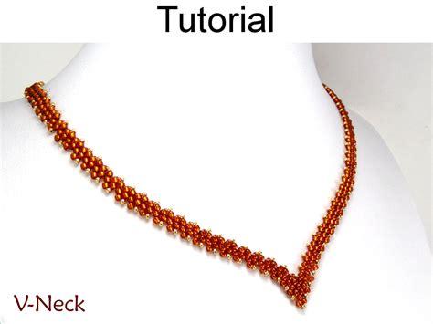 simple beading designs beading tutorial necklace diagonal peyote sitch simple
