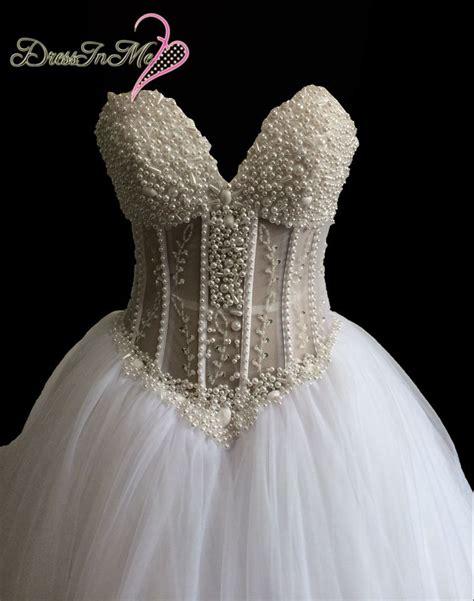 Aliexpress Buy Heavily Pearl Beaded Princess Wedding