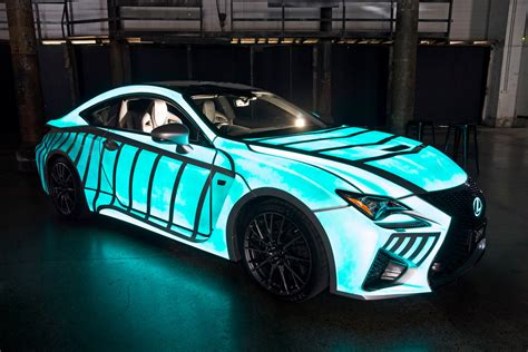 glow in the paint on a car lexus previews rc f with dynamic glow in the paint