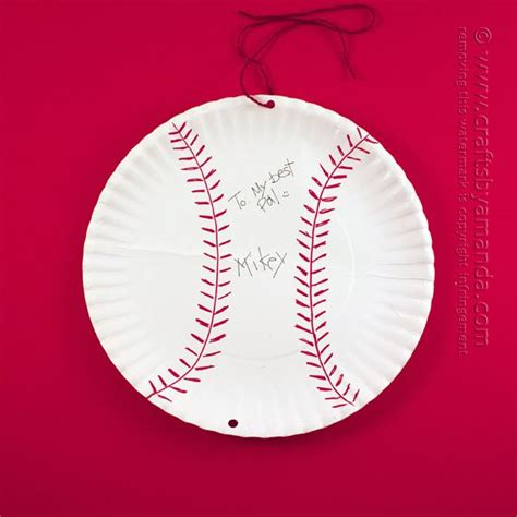 baseball crafts for paper plate autographed baseball card for