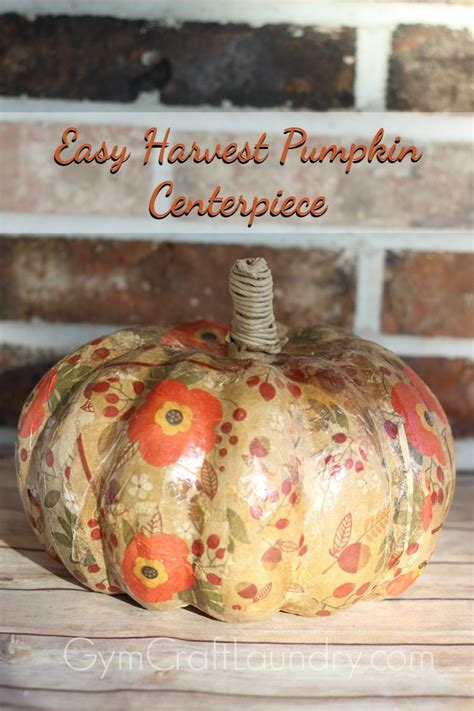 easy decoupage last minute thanksgiving centerpiece easy decoupage craft