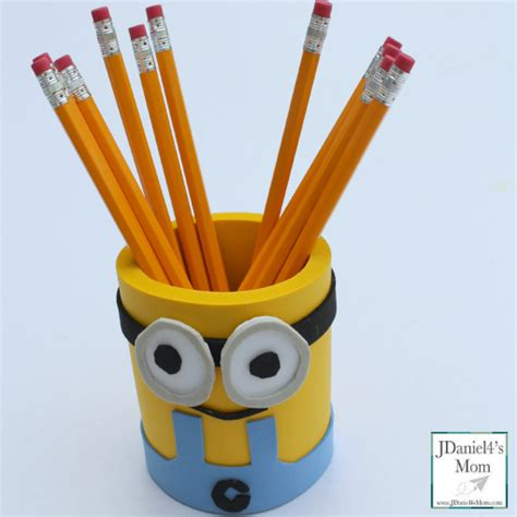 pencil holder craft ideas for despicable me minions craft idea foam pencil holder