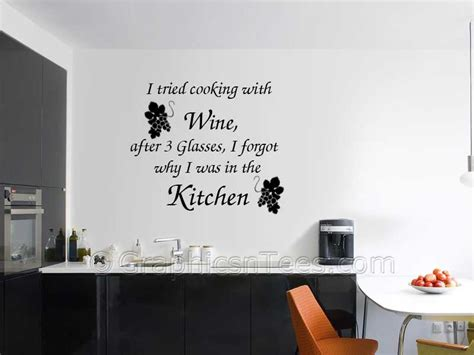 Tree Wall Mural Decal i tried cooking with wine kitchen dining room wall art
