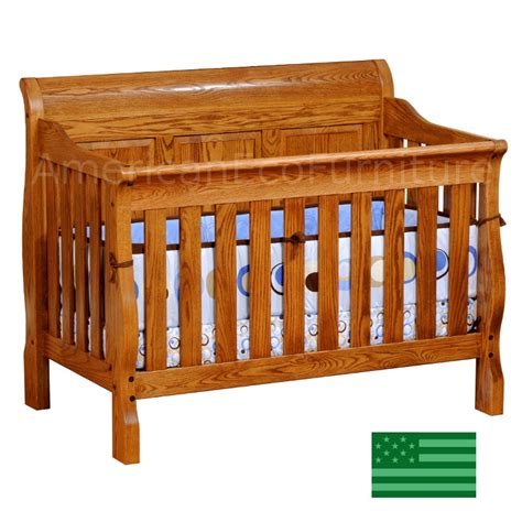 solid oak baby cribs sleigh panel 4 in 1 convertible baby crib solid wood