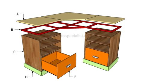 building computer desk woodwork diy l desk plans pdf plans