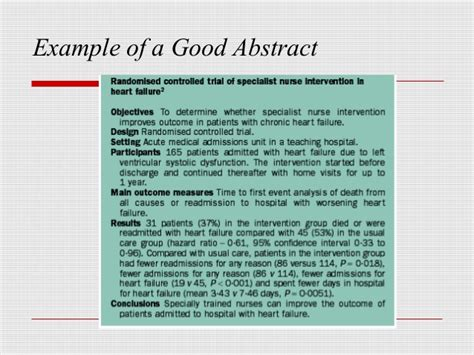 sample paper presentation abstract format book review