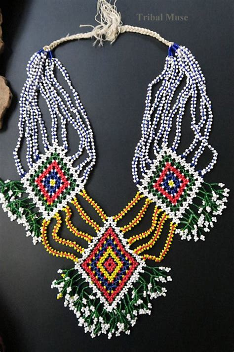 beaded tribal necklace kalbelia beaded tribal jewellery necklace