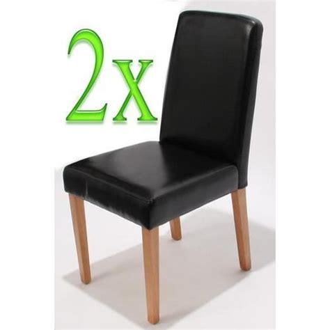 chaises de salle 224 manger lot de 2 ancona cr 232 me achat vente chaise salle a manger pas cher