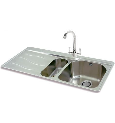 inset kitchen sinks carron 150 stainless steel bowl half inset