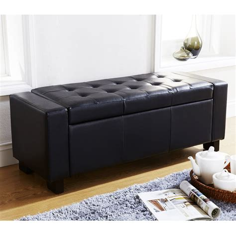 storage bench ottoman verona ottoman blanket box storage bench faux leather foot