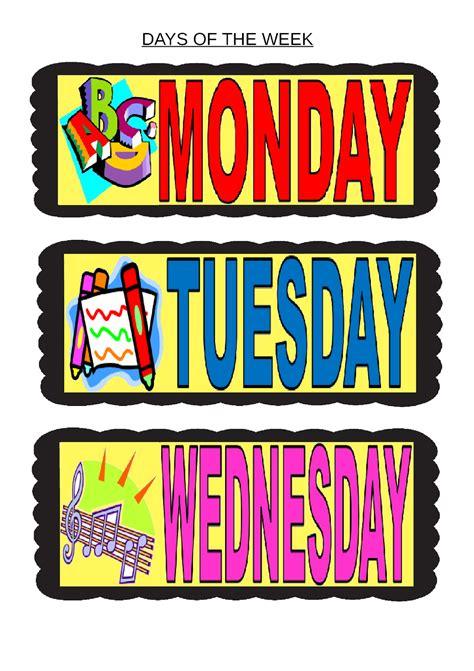 kinder smart work days of the week