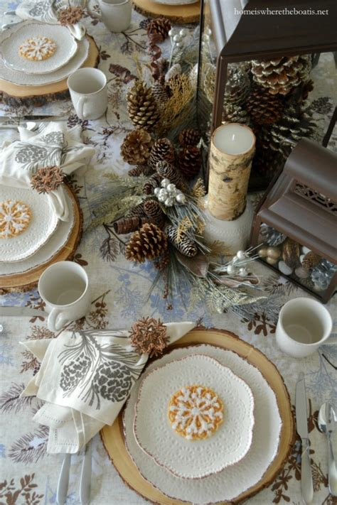 winter home decorating ideas winter tablescape decorating ideas