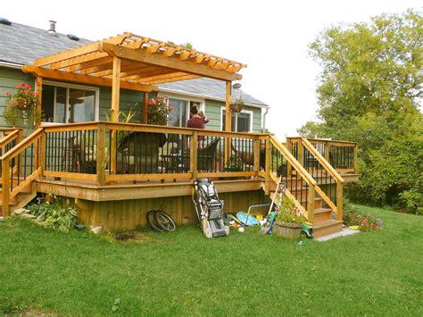 pergolas for decks decks sheds and more cedar deck with pergola