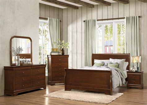 homelegance bedroom furniture homelegance abbeville sleigh bedroom set brown cherry
