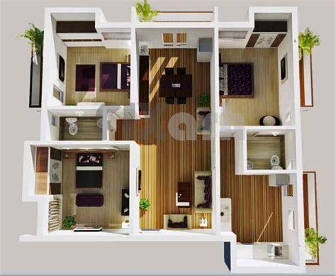three bedroom house interior designs 30 denah rumah minimalis 3 kamar tidur 3d tiga dimensi