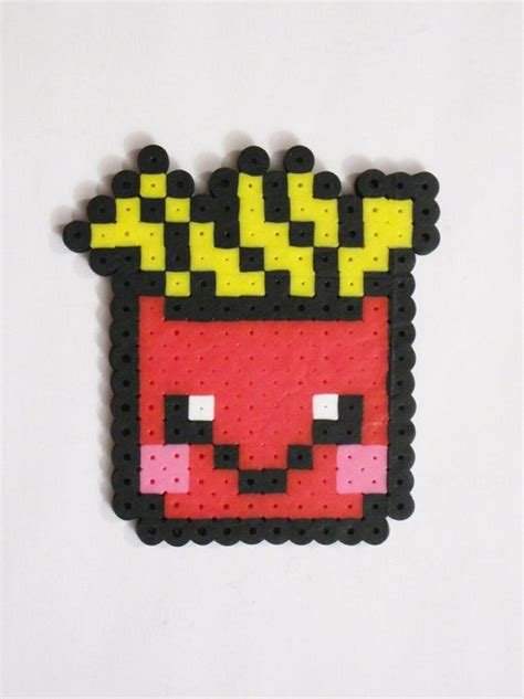 food perler fries kawaii food perler bead pyssla