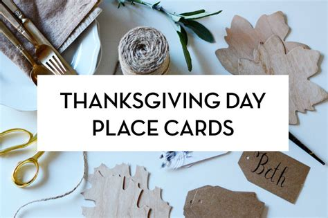 thanksgiving place cards to make thanksgiving day diy place cards shindig paperie