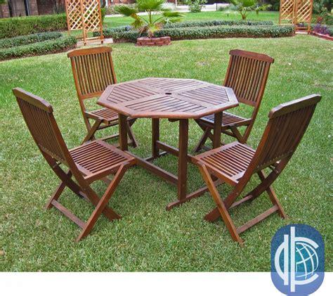 acacia patio furniture acacia 5 stowaway patio furniture set patio table