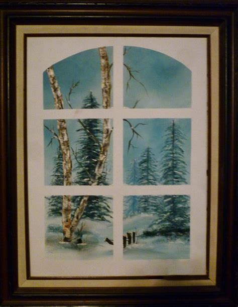 bob ross painting classes at hobby lobby painted at hobby lobby in a bob ross class window effect