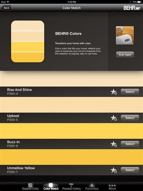 behr paint color app colorsmart by behr 174 mobile apppicker