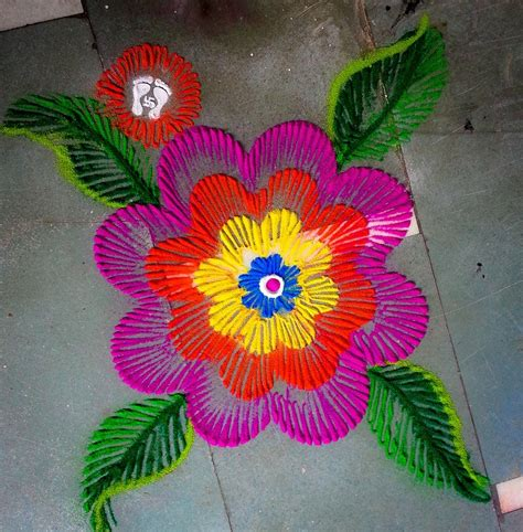 rangoli craft for marigold flower with crepe paper rangoli designs diwali