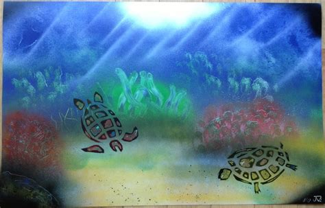 spray paint underwater underwater paintings marczirin spray paint
