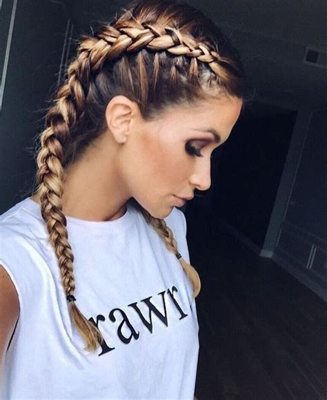 how to put on braided hair best 25 two braids ideas on two