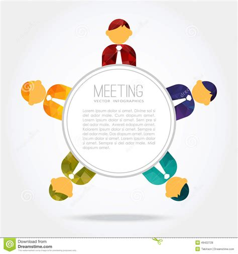 around the table business meeting around the table stock vector