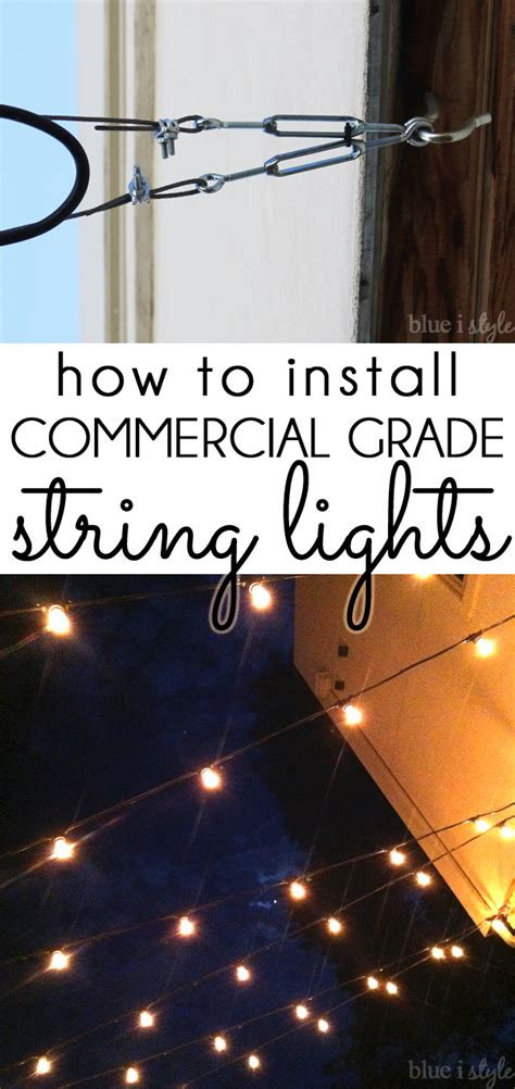 how to hang led lights outdoor style how to hang commercial grade string lights