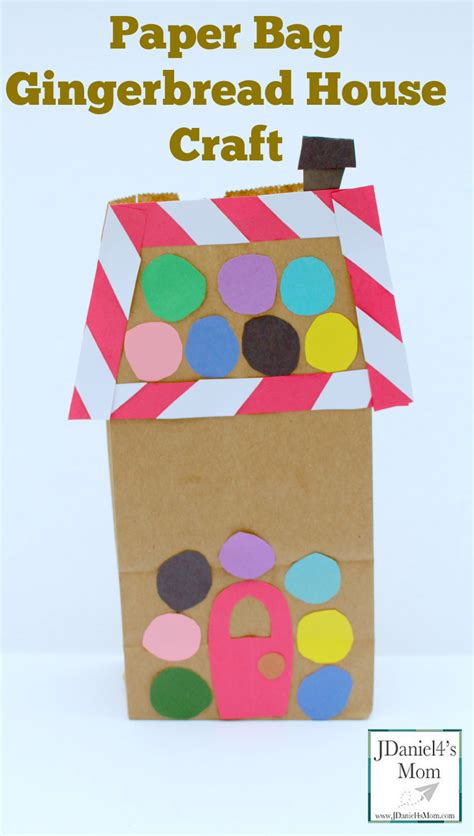 craft paper bag paper bag gingerbread house craft jdaniel4s