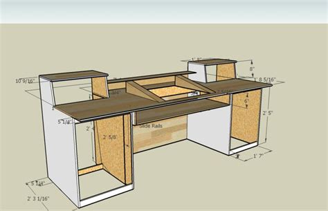 recording studio computer desk pdf woodwork studio desk plans diy plans