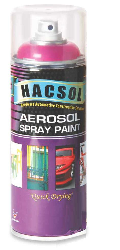 Hacsol Aerosol Spray Paint Made In Malaysia