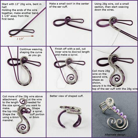 how to make ear cuffs jewelry freeform woven swirls ear cuff tutorial by gailavira on