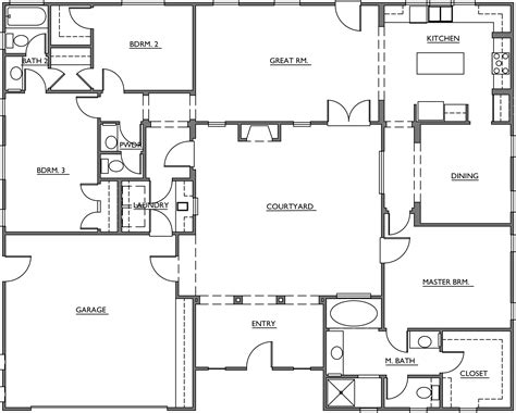 floor plans with courtyard turner mesquite courtyard homes floor plans architecture plans 13251