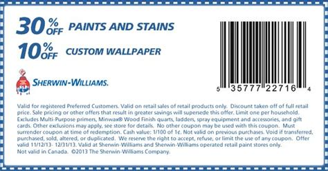 sherwin williams store coupons sherwin williams coupon paint for the house