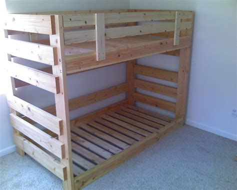 bunk bed wood free plans for wooden bunk beds woodworking expert projects