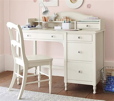 kid desk with hutch juliette storage desk hutch pottery barn