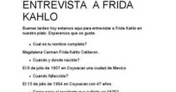 entrevistas cortas a famosos entrevista a frida kahlo google docs