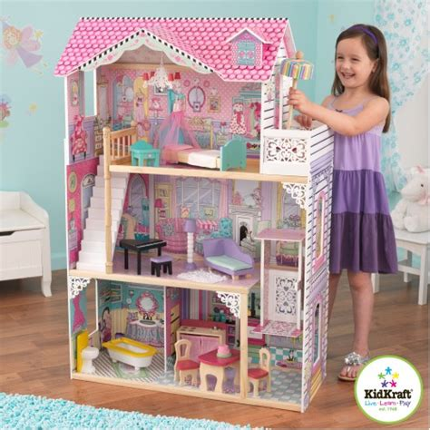 kid craft annabelle dollhouse with furniture jd kidz australia