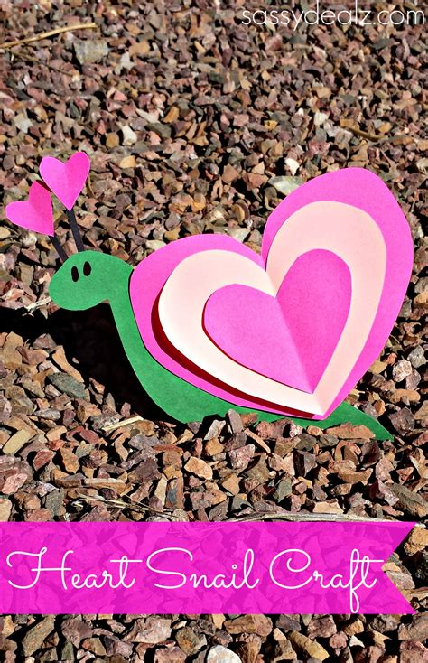 valentines craft projects snail craft for project