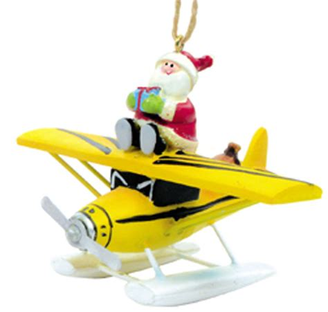 airplane ornaments for airplane ornament santa claus on floatplane ornament