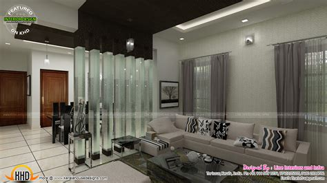 kerala home design courtyard contemporary dining living and courtyard interior design