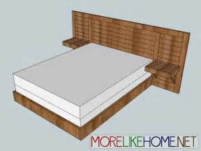 how to build bed frame modern bed frame plans plans free