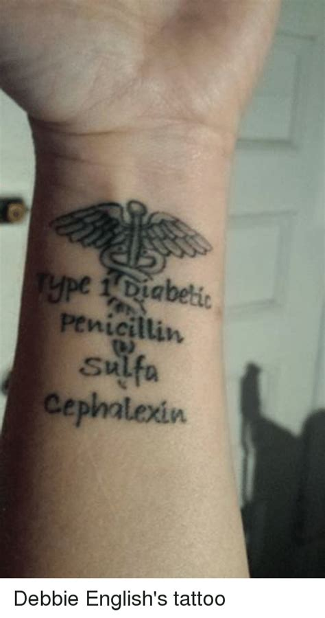 penicillin sulfa cephalexin debbie english s tattoo