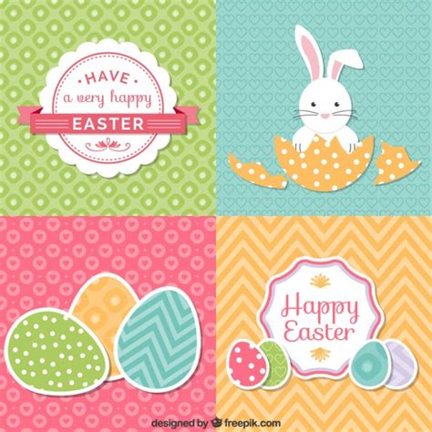 easter card set of easter cards vector free