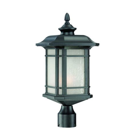 outdoor light fixtures home depot acclaim lighting somerset 1 light matte black outdoor post